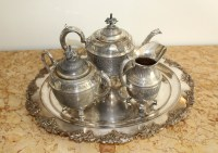 Silver Plated Tea Set And Tray & Vintage Viners Sheffield ...