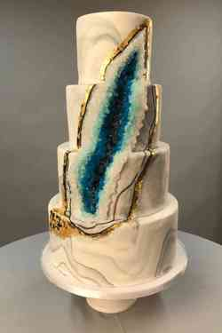 Small Of Geode Wedding Cake