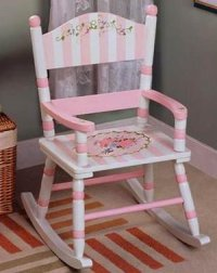 Bouquet Girls Rocking Chair - The Frog and the Princess