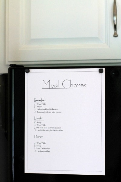 Zee new chore lists - The Frugal Girl