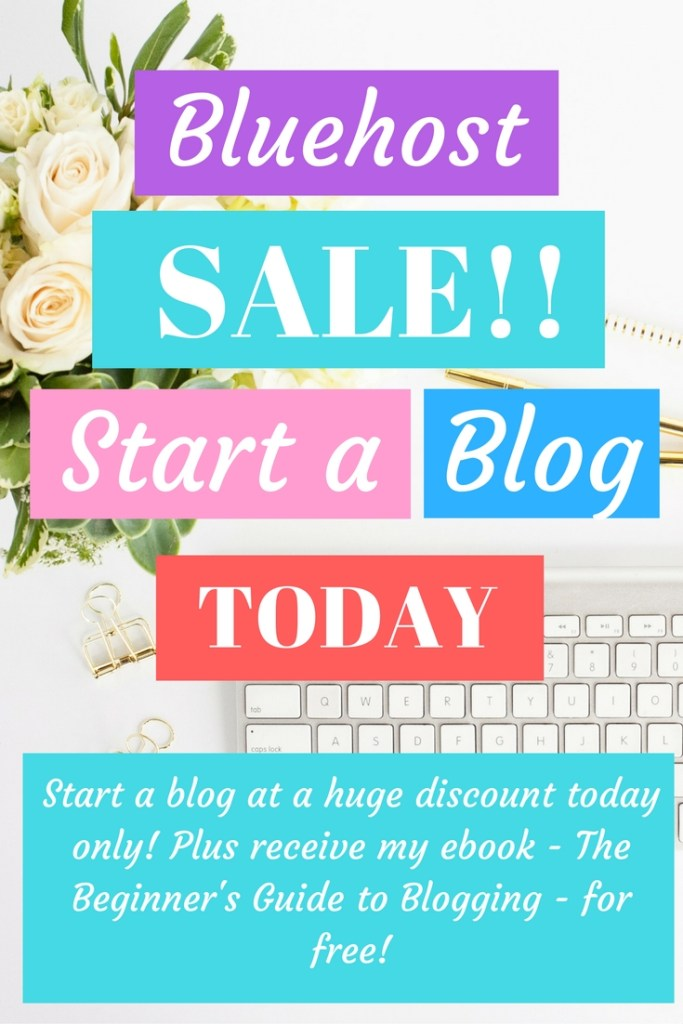 Ready to start a blog?! There is no better day than TODAY!!! Today only, you can start a blog for super cheap. And, I'll throw in my book - The Beginner's Guide to Blogging - for free!! Blogging has completely changed my life and provides a wonderful source of extra income for my family. Let me help you on this journey!