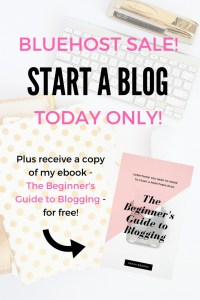 Bluehost sale TODAY only! Now is your chance to start a profitable blog at a HUGE DISCOUNT! Blogging has changed my life; it can change yours, too!