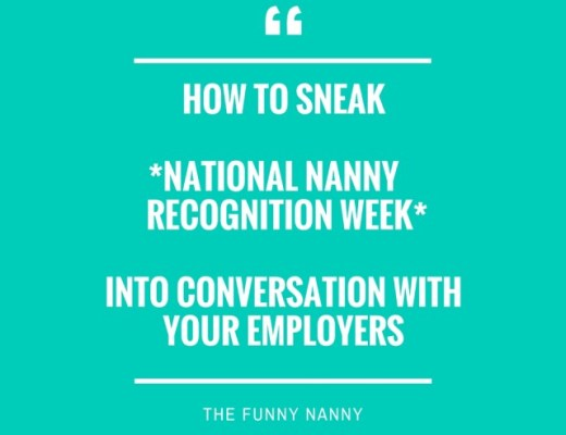 Happy National Nanny recognition week