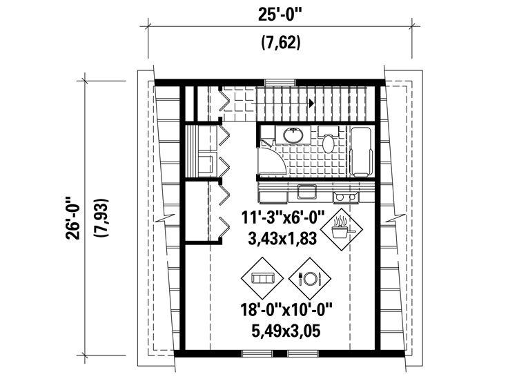 Studio Apartment Plans Barn-Style, 2-Car Garage Apartment Plan - Copy Barn Blueprint 3