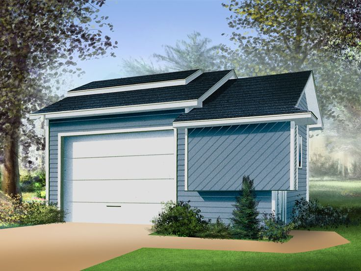Multiple-Size Garage Plans Contemporary Garage Plan Available in