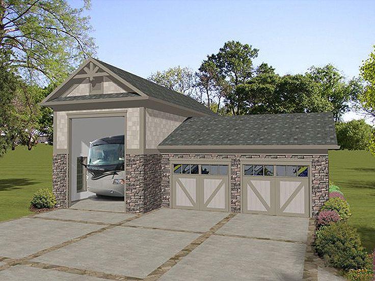 Rv Garage Plans Rv Garage Plan With Attached 2 Car
