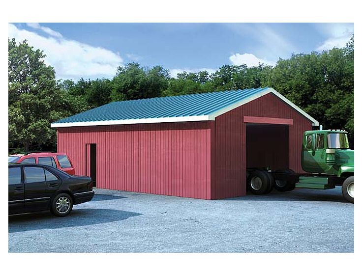 Outbuilding Plans Pole Barn Plan in Multiple Sizes Design # 047B - Copy Barn Blueprint 3