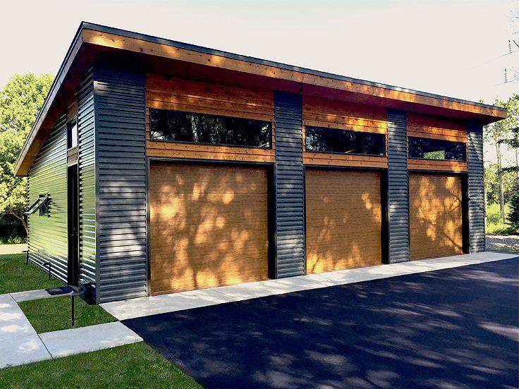 3-Car Garage Plans Modern Three-Car Garage Plan Design # 050G-0035 - Copy Barn Blueprint 3