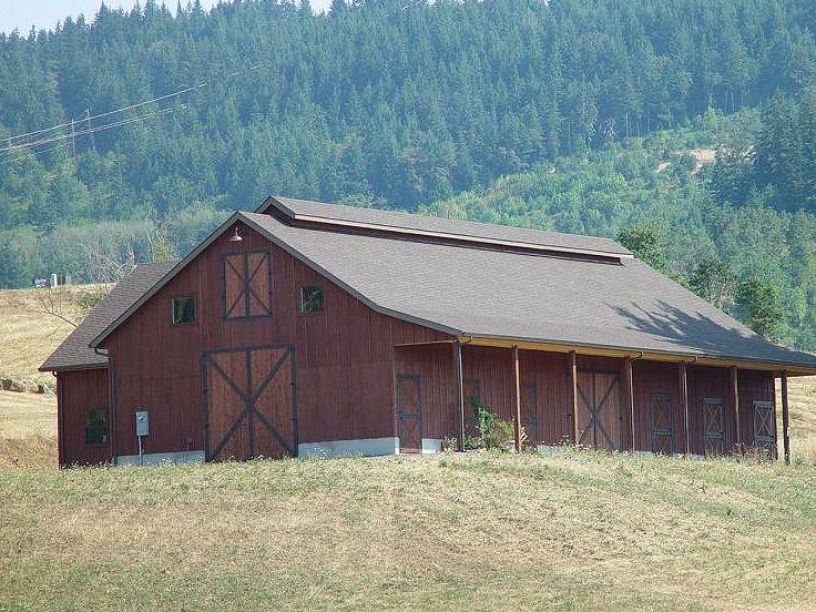 Barn Plan Outbuilding Plan or Barn Plan with Living Quarters - Copy Barn Blueprint 3