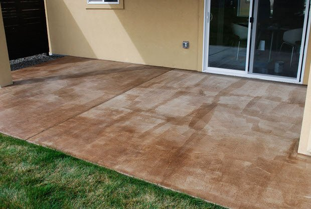 Patio Concrete Staining Do It Yourself Diy Concrete Patio