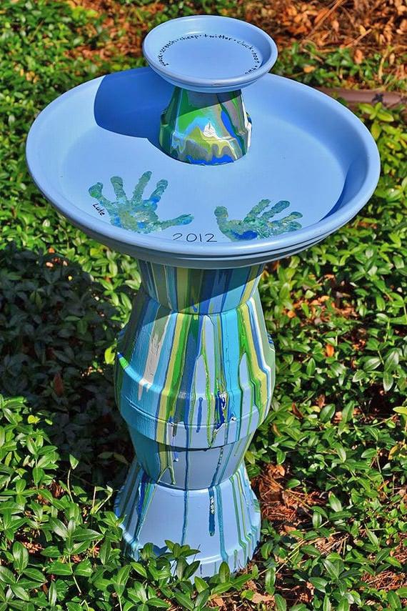diy garden art plant waterer