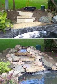 DIY Garden Waterfall Projects | The Garden Glove