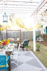 DIY Concrete Patio Cover-Ups | The Garden Glove