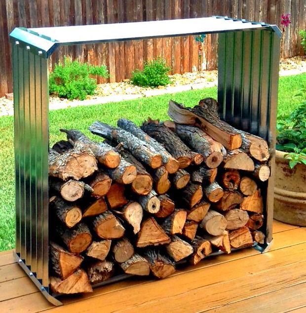 Super easy DIY firewood racks -3
