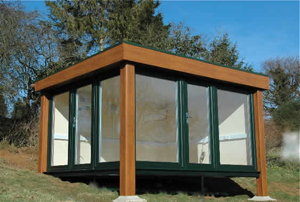 The QC2 garden studio by www.boothsgardenstudios.co.uk
