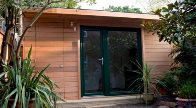 Garden office combined with shed storage the garden room for Garden office and storage