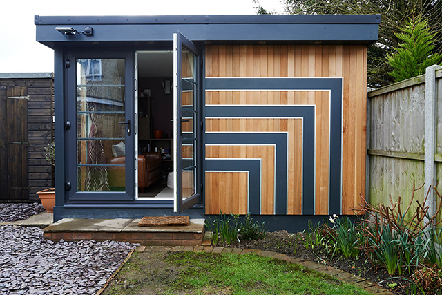 Cladding detail on a Swift Garden Room