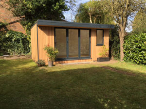5.3m x 3.3m garden office with bi-fold doors