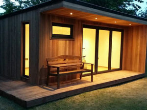 Solar powered garden room