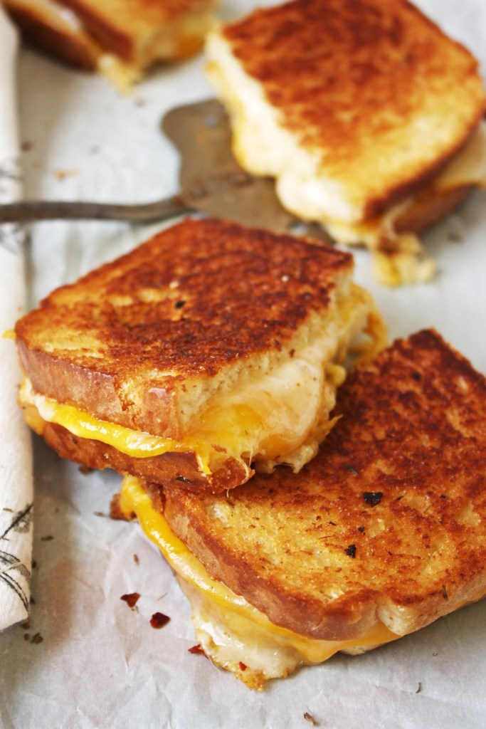 Grilled Cheese Sandwiches on Sourdough Bread Lunch Recipes
