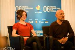 Rose McGowan and Sir Ben Kingsley