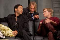 Lenny Kravitz, Woody Harrelson and Josh Hutcherson
