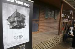 Cabin in the Woods display