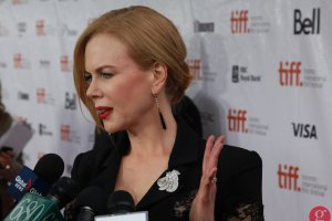 Nicole Kidman on The Railway Man red carpet