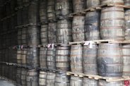 Barrels of Canadian Club at the Pike Creek ageing facility