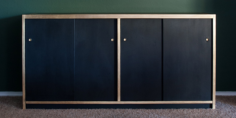 Diy Black And Gold Leaf Credenza The Gathered Home