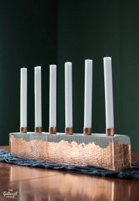 DIY Copper and Cement Candle Holder