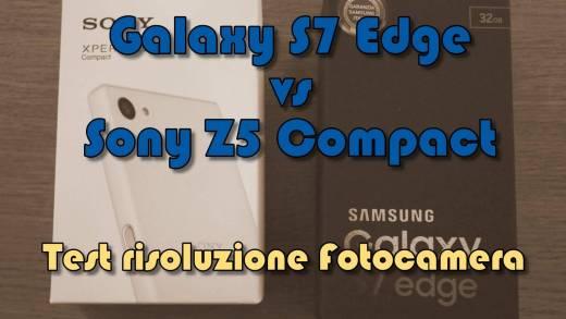 S7 Edge Test risoluzione fotocamera