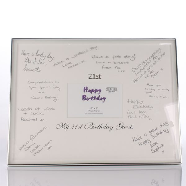 21st Birthday Guests Signature Frame The Gift Experience