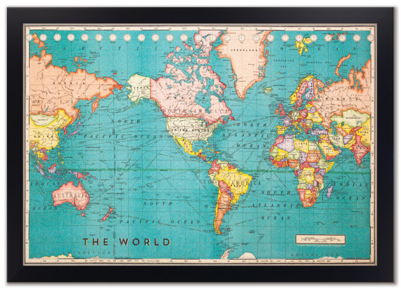 World Travel Map With Pins 7 Ways to Track Your Travels