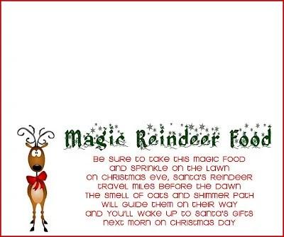 Reindeer Food Recipe and Printable - The Girl Creative