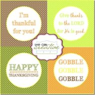 {Free Thanksgiving Printable: Cupcake Toppers}