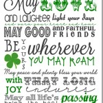 Printable St. Patrick's Day Subway Art