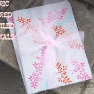 Fabric Covered Stenciled Journals