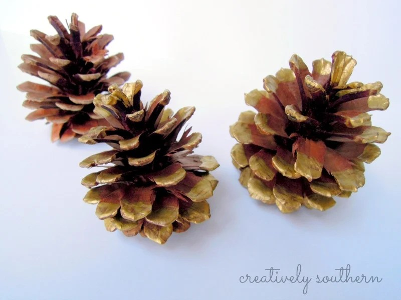 painted-pinecones
