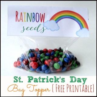 Free Printable St. Patrick's Day Bag Topper