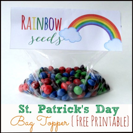 Free Printable St. Patrick's Day Bag Topper