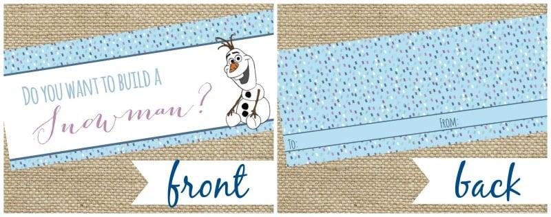 Free Printable Frozen Bag Topper - The Girl Creative
