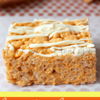Candy Corn Rice Krispie treats made with sweet candy corn marshmallows.