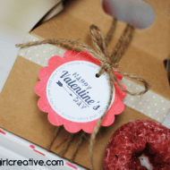 Valentine's Day Donuts with Free Printable