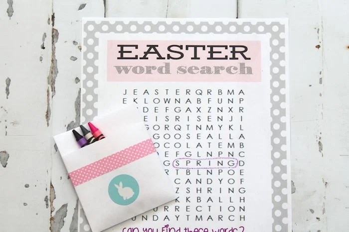 Printable Easter Word Search - The Girl Creative