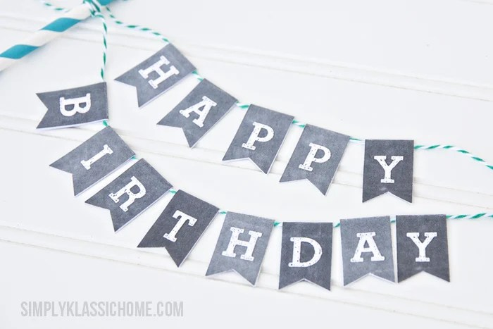 Free Printable Birthday Banners - The Girl Creative