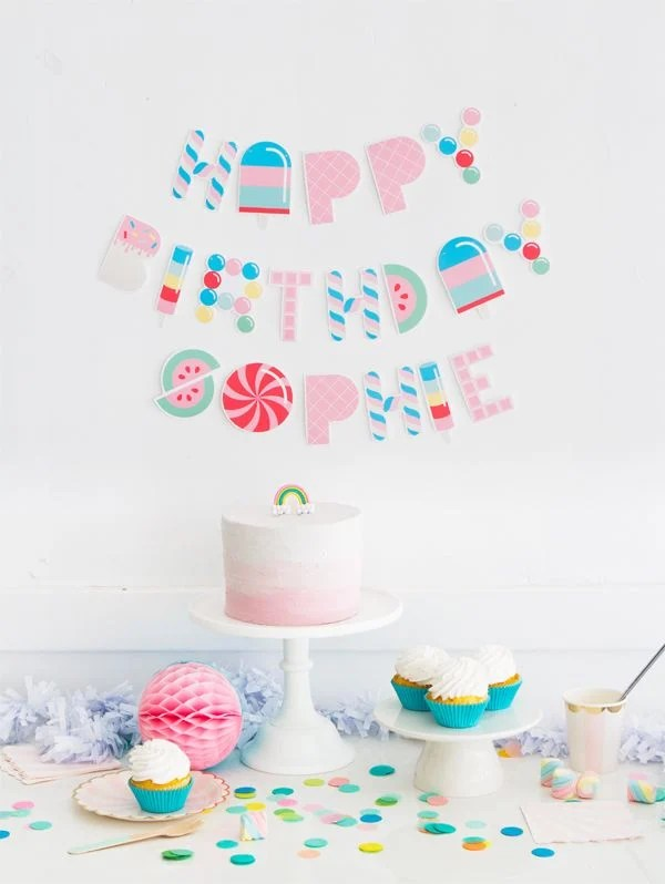 Free Printable Birthday Banners - The Girl Creative