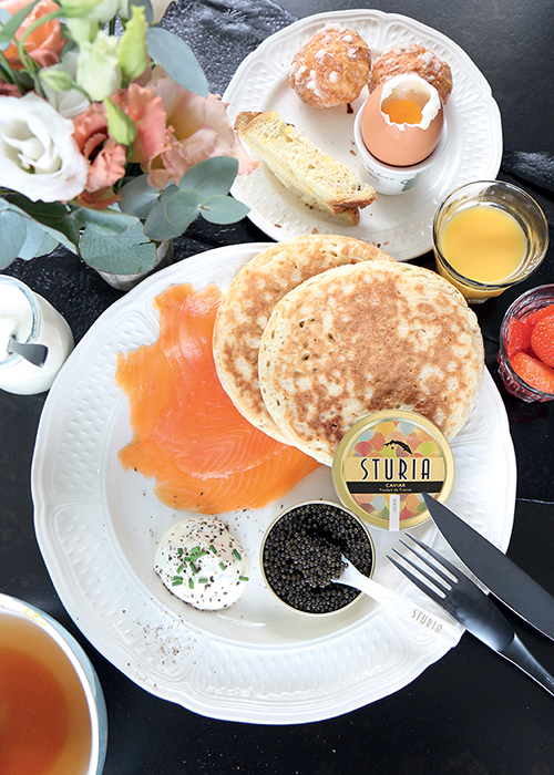 Caviar brunch