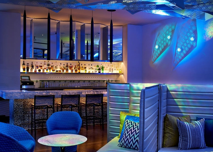 W Hotel, West Beverly Hills, Los Angeles, CA, United States of America, Living Room Bar, nightime