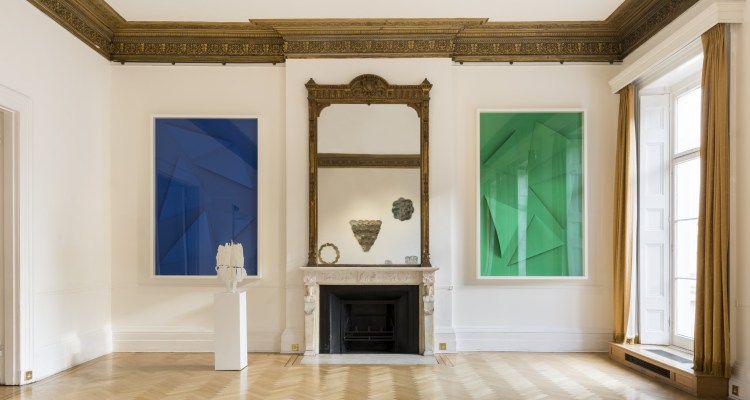 Installation View Pietro Consagra and Marine Hugonnier at the Italian Cultural Institute. Courtesy of ARTUNER